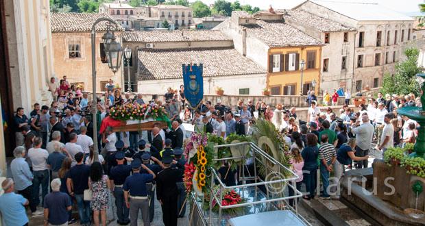 Funerali di Vincenzo D'Allestro a Piedimonte Matese