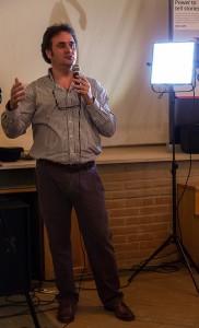 Marco Brighel durante il workshop sulle tecniche di ripresa