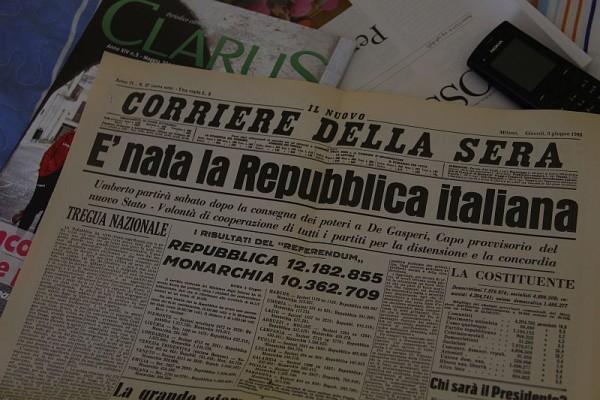 E 39 nata la repubblica italiana storia di una festa for Corriere della sera casa