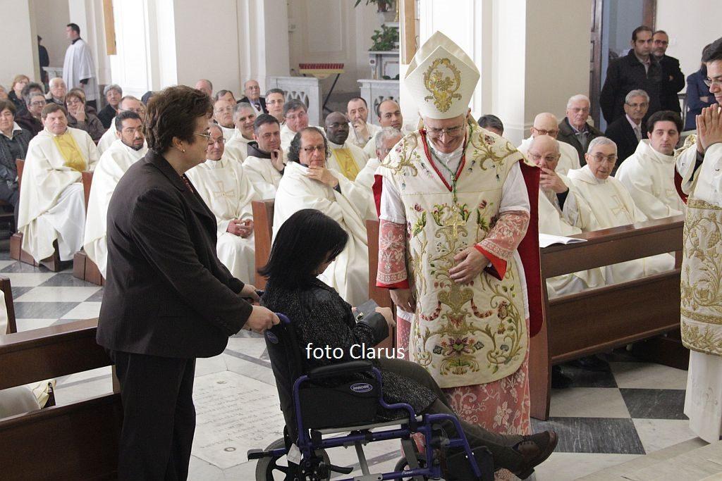 valentino di cerbo vescovo alla messa crismale