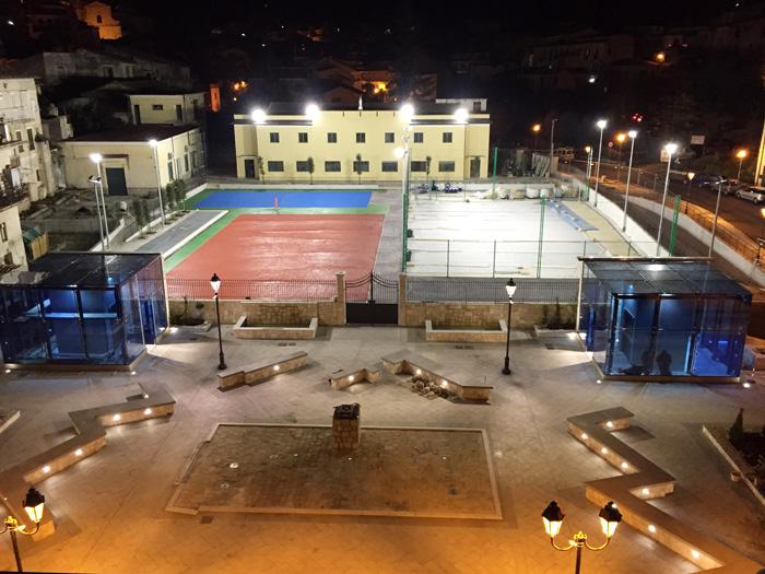 Piedimonte matese e la sua nuova piazza parcheggio con - Parcheggio interrato ...