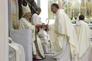Valentino Di Cerbo con don Emilio Meola al Sinodo